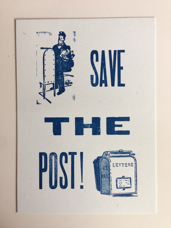 Save the Post letterpress card