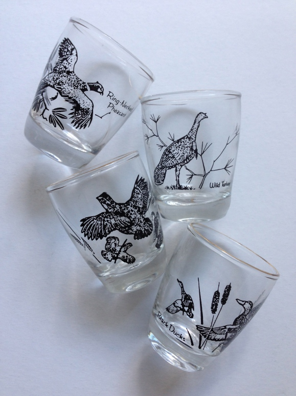 Anchor Hocking Bird Shot Glasses