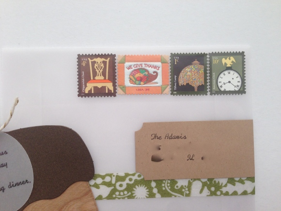 vintage Thanksgiving stamp