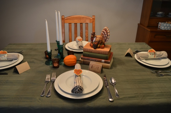 thanksgiving table 2014, centerpiece