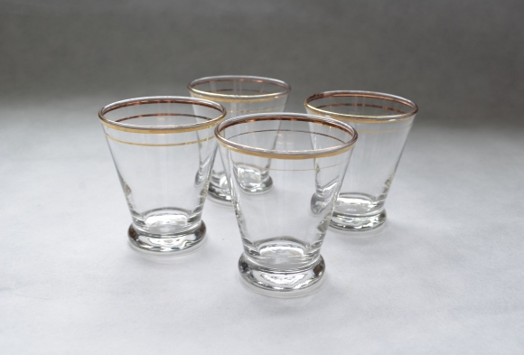 old cocktail glasses