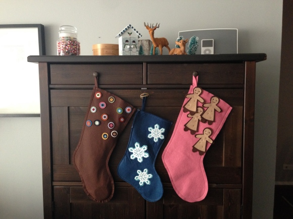 Our stockings, handmade felt, Mahar Dry Goods