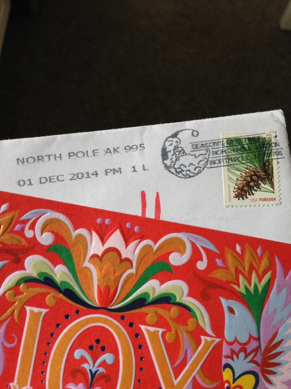north pole, alaska postmark