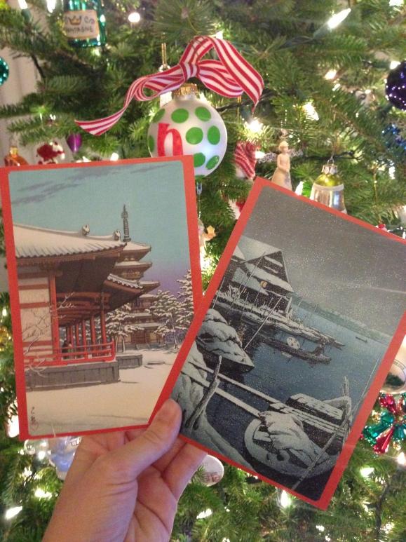 Hasui Kawase christmas cards