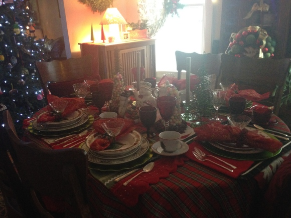 Bookclub holiday tea table settings 3 2014