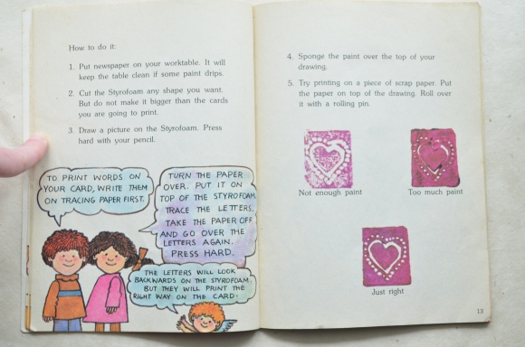styrofoam print project 2, Tomie de Paola Things to Make and Do for Valentine's Day