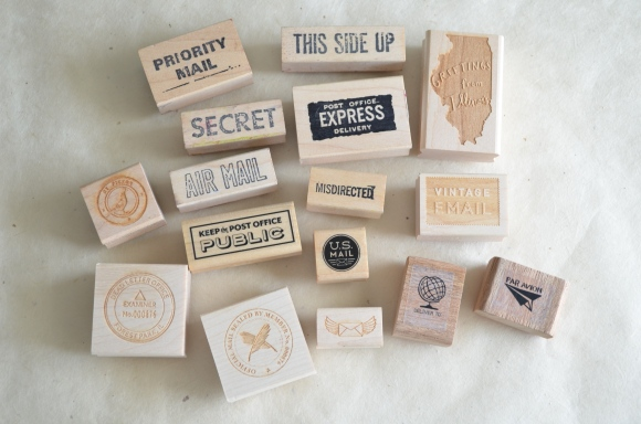 postal rubber stamps for letter month