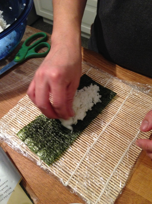 making sushi at home