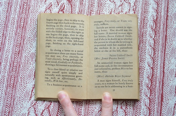 vintage book: The Etiquette of Letter Writing