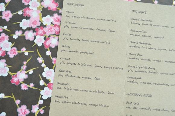 Hasegawa Happy Hour menu 1