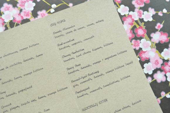 Hasegawa Happy Hour menu 2