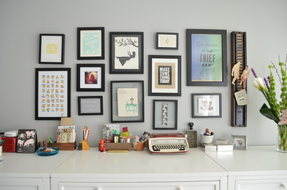 art above desk, kimberly AH