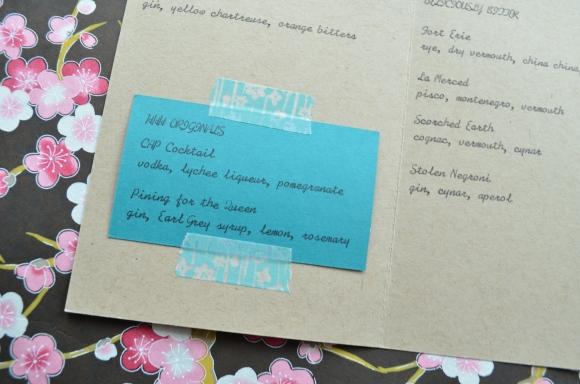Hasegawa Happy Hour menu 3