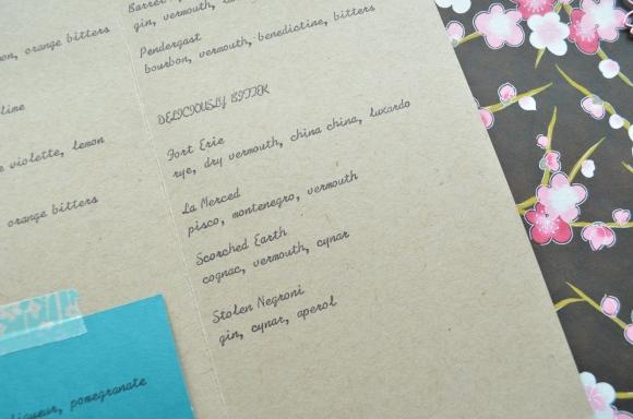 Hasegawa Happy Hour menu 4