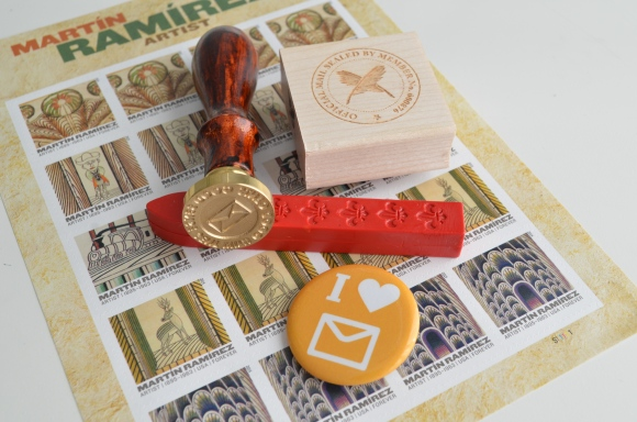 letter writers alliance, wax seal, member stamp, postage stamp