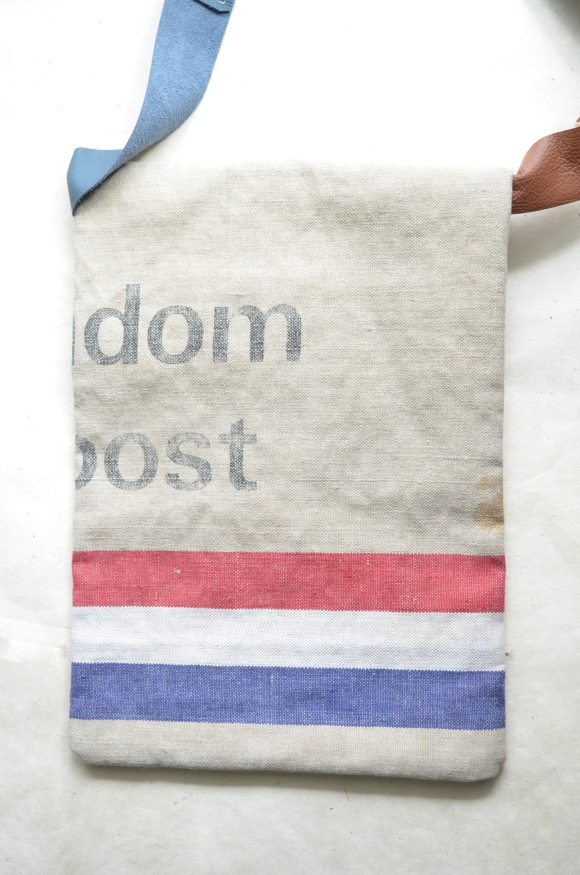 postal themed birthday gifts, etsy, stiksel, upcycled old mail bag, purse