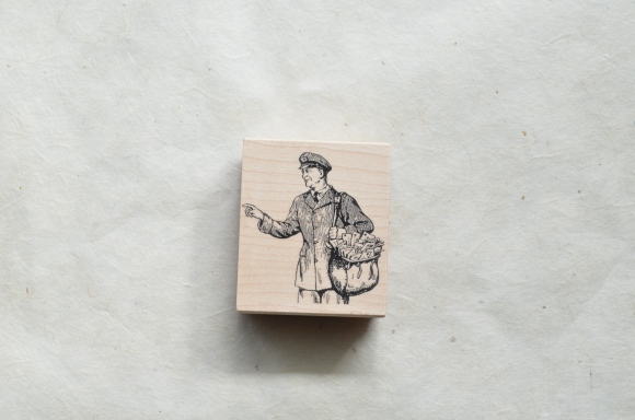 postal themed birthday gifts, etsy, pictureshow shop, postman rubber stamp
