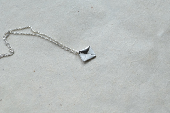 postal themed birthday gifts, etsy, monyart shop envelope necklace