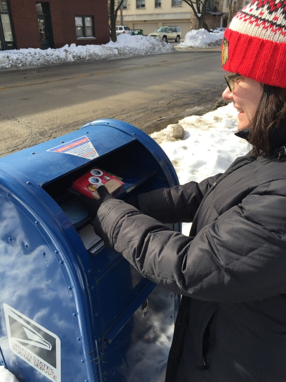 blue mailbox, letter month
