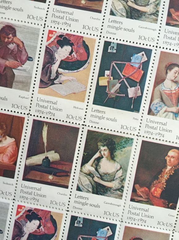 USPS Letters Mingle Souls stamps