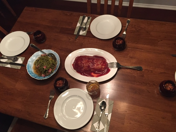 Hasegawa Happy Hour, Tomi Fujiyama edition, old fashioneds, meatloaf, baked beans, green beans