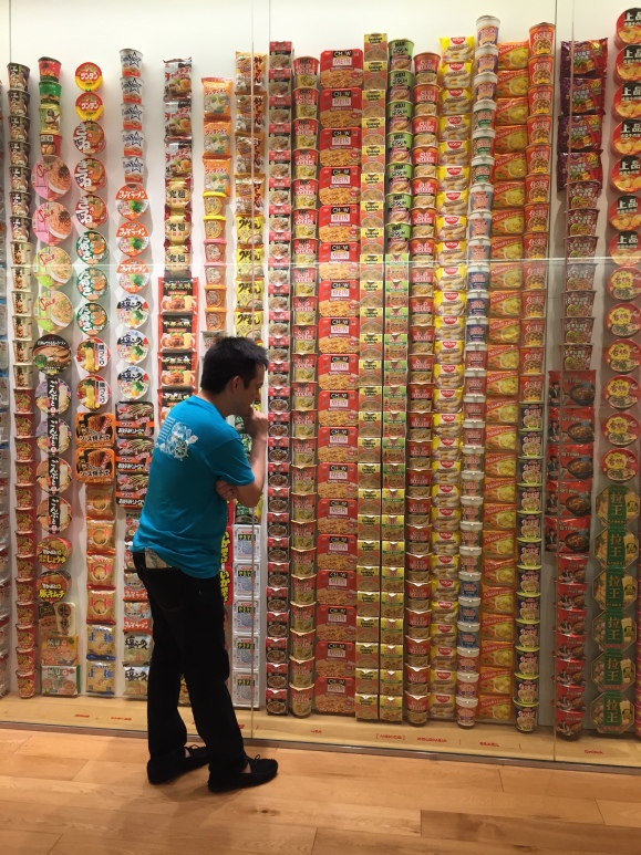 Cup Noodle Museum hall of noodle packaging
