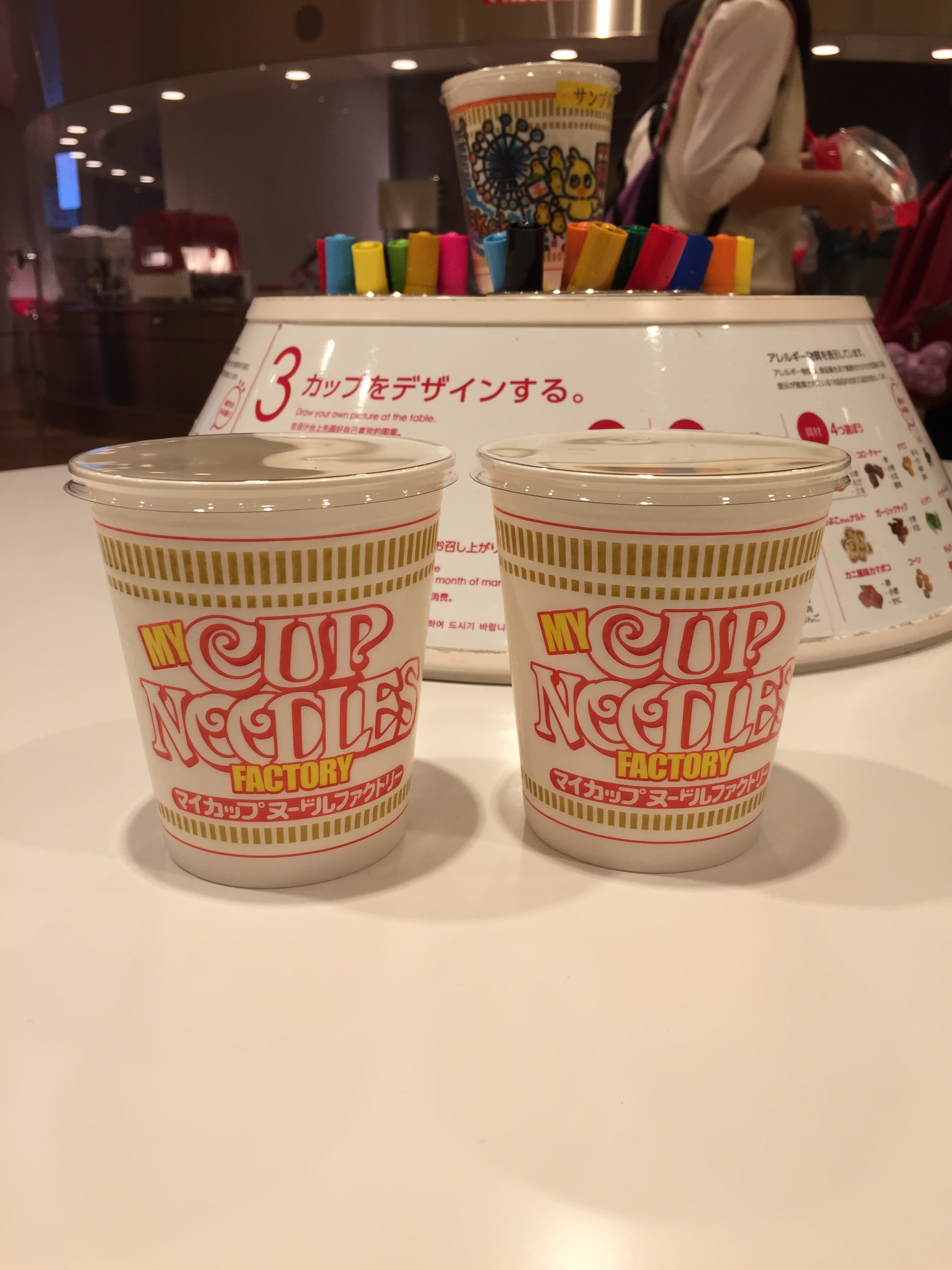 Cup Noodle Museum, making our own cup noodle