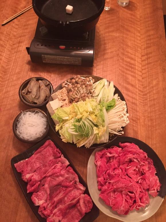 Hasegawa Happy Hour at the Suzukis, sukiyaki
