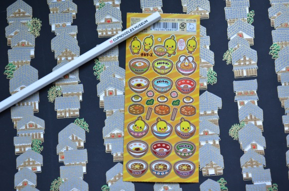 Cup Noodles Museum pencil and stickers (2)