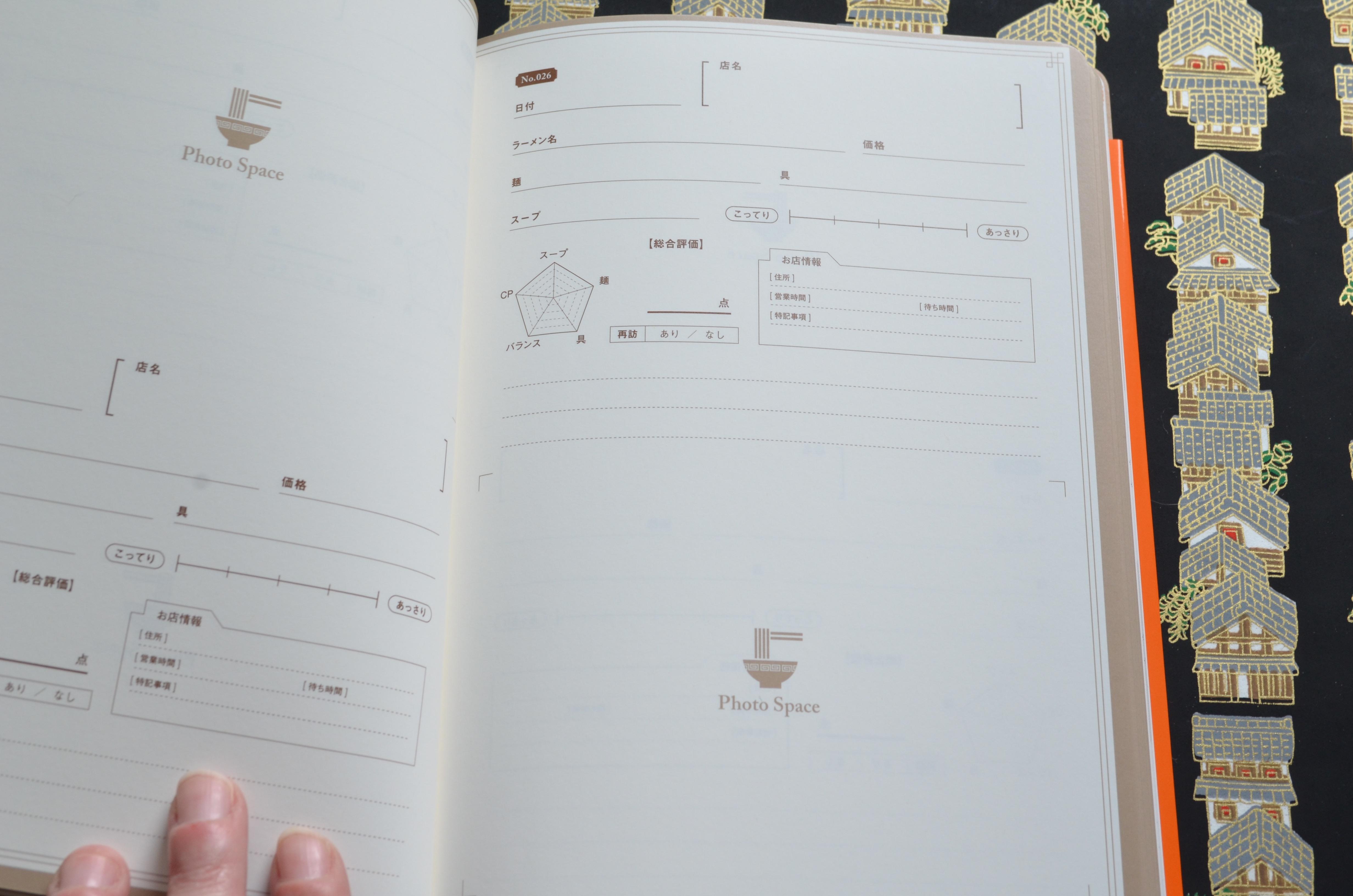 Ramen journal inside pagesl, Ramen log, Naoberly's Noodle Tour