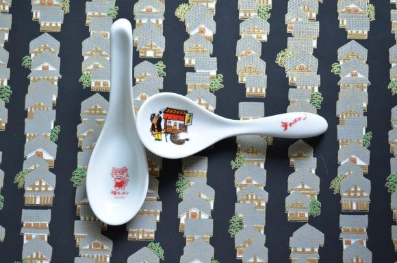 Ramen Spoons, vintage ramen shop, Ramen Museum