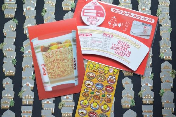 Cup Noodle note, Cup Noodles stickers, Cup Noodles postcard,  Cup Noodles Museum