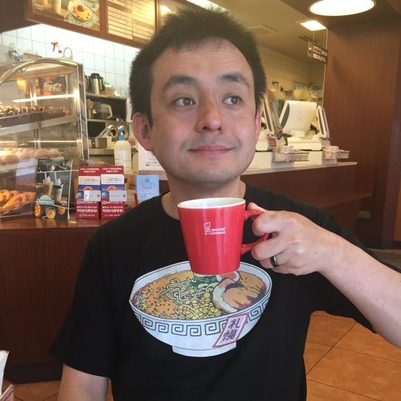 Naoto in his Ramen Museum t-shirt, Naoberly Noodle Tour, Ramen Museum