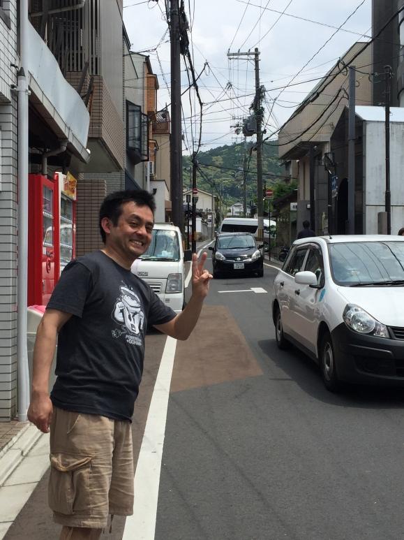 Naoto walking up to Kiyomizu Temple