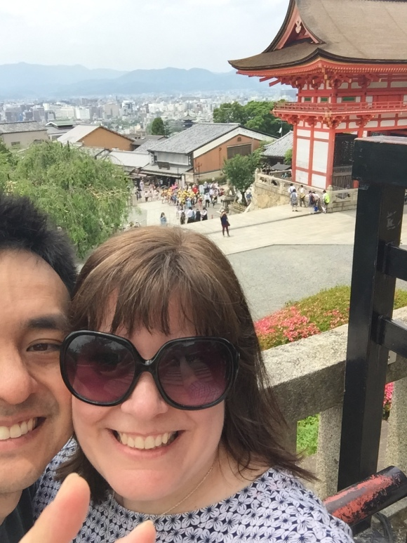 kimberly and naoto, views from Kiyomizu Temple