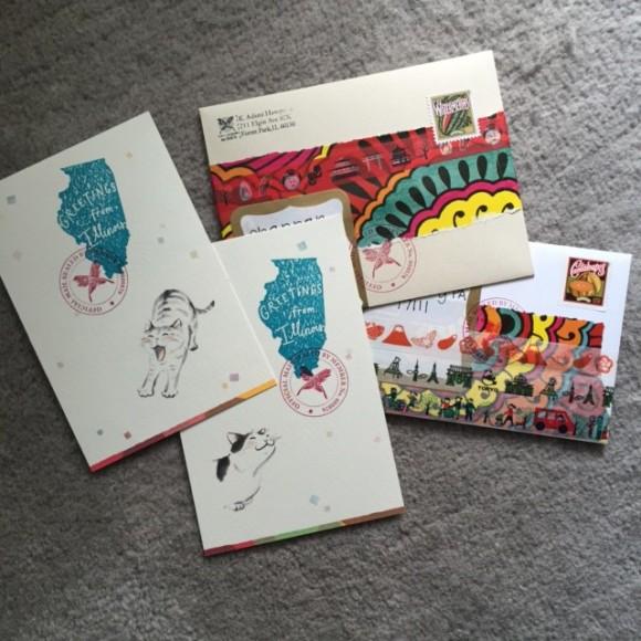outgoing mail August, #showandmail, #feedyourmailbox, mail art
