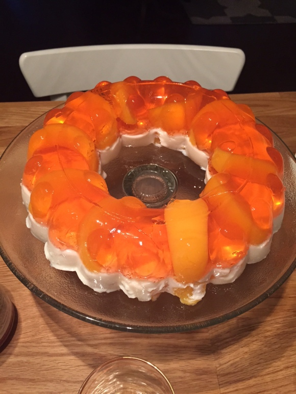 Peaches and Cream Jello Mold