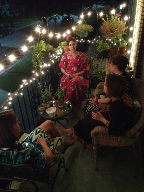 kaftans on the lania, Mrs. Roper Party guests