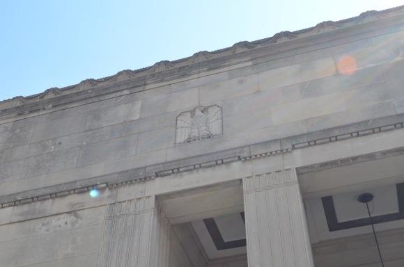 detail of Oak Park, IL post office