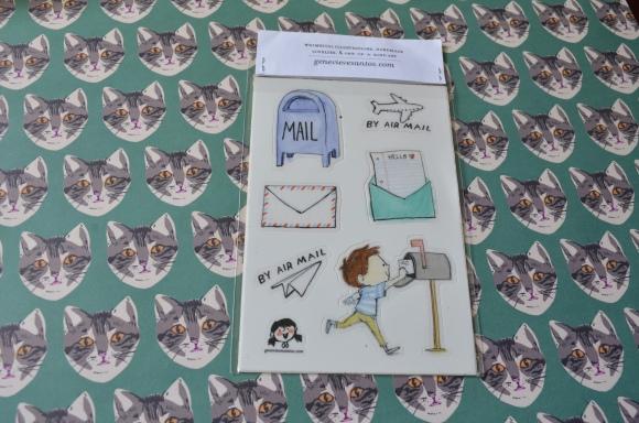 Genevieve Santos snail mail stickers