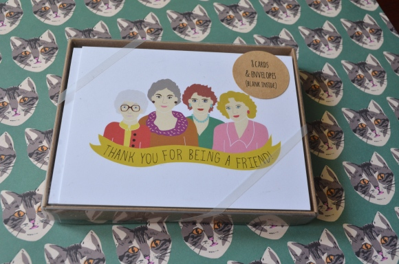 Renegade Chicago purchases, Arthurs Plaid Pants golden girls notecards