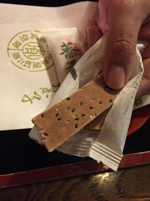 buckwheat snack, Japanese confectionary, Owariya sweets