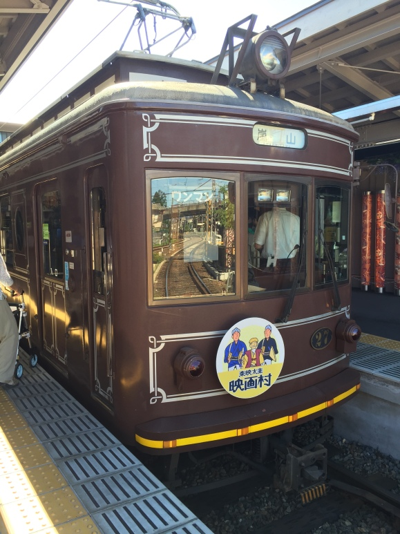 train to Arashiyama Bamboo Forest
