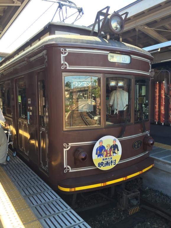 train to Arashiyama Bamboo Forest