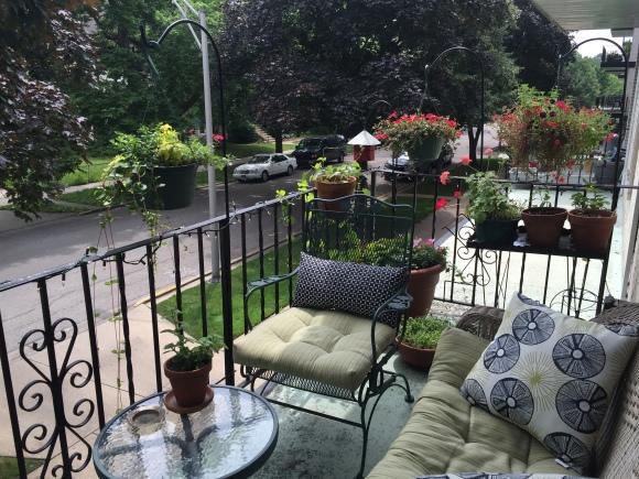 balcony looking south, lanai, sitting area
