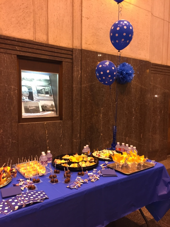 oak park post office 80th anniversary celebration, food spread
