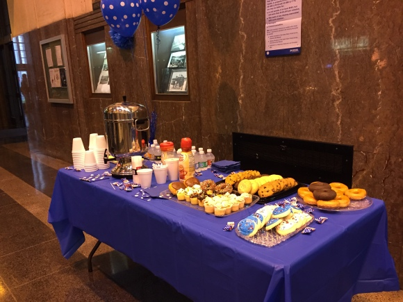 oak park post office 80th anniversary celebration, food spread