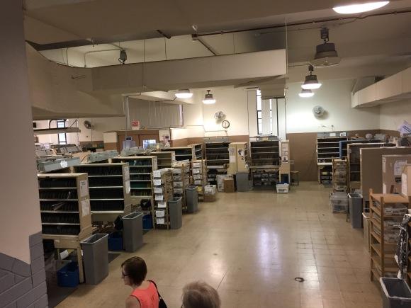 Oak Park, IL Post Office, sorting room, USPS