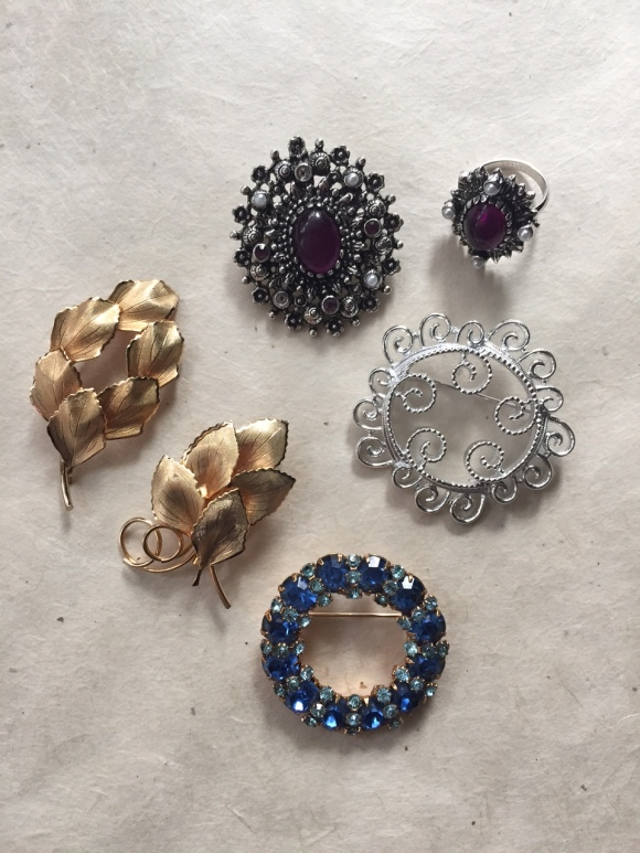 Great Grandma Blanche Litton's brooches