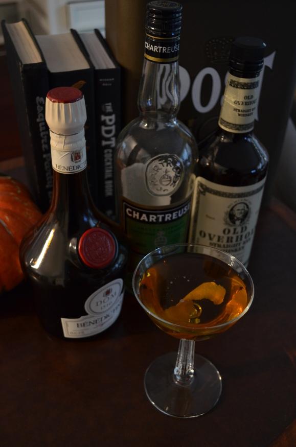 Purgatory Cocktail, Old Overholt rye, Chartreuse, Benedictine